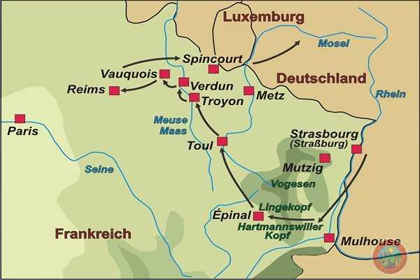 Frankreich Geschichtsreise Von Den Vogesen Nach Verdun Und An