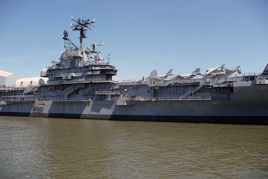 Die US-Kriegsflotte und die Anlagen der Küstenverteidigung an der Ostküste der USA